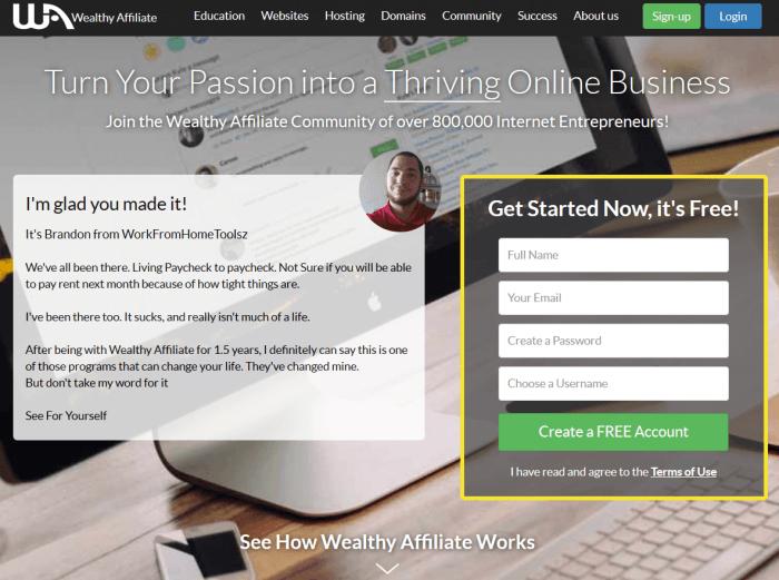 WA home page