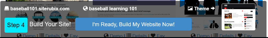 step 4 build with siterubix