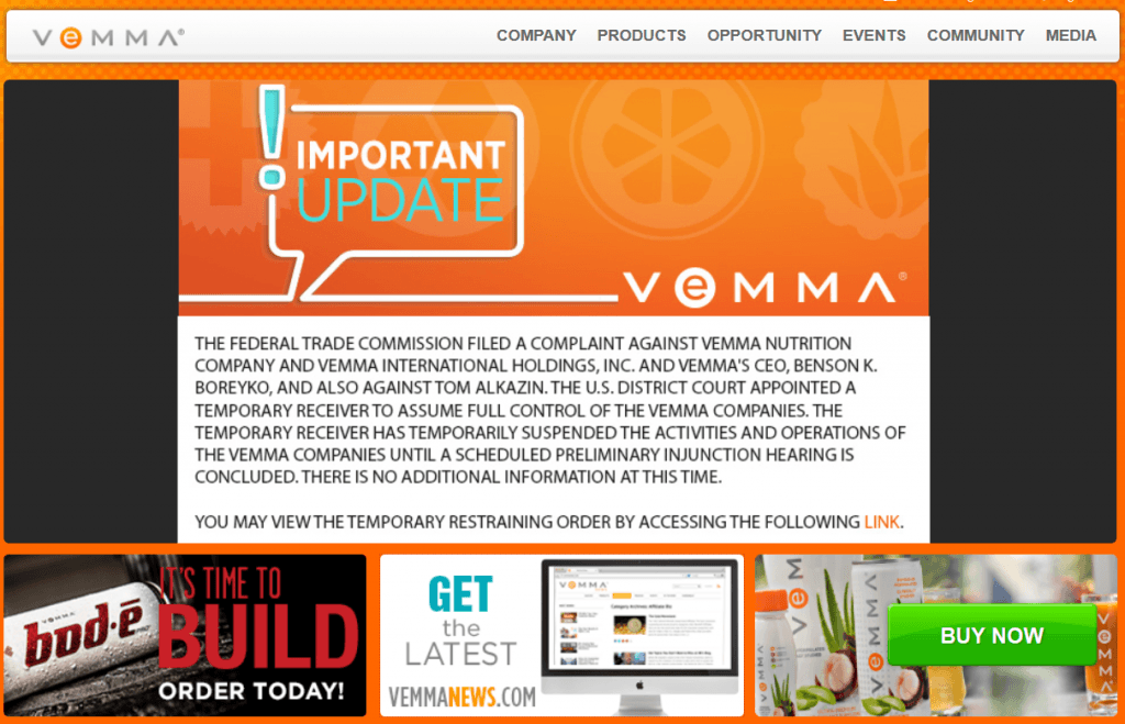 Vemma Nutrition Company is an illegal pyramid scheme Shut down by the FTC