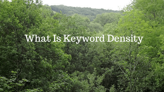 What is good keyword density