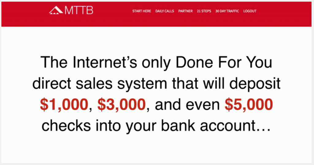 Mttb done for you direct sales system
