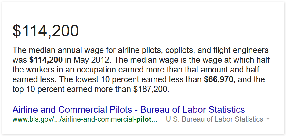 awn average income for a pilot