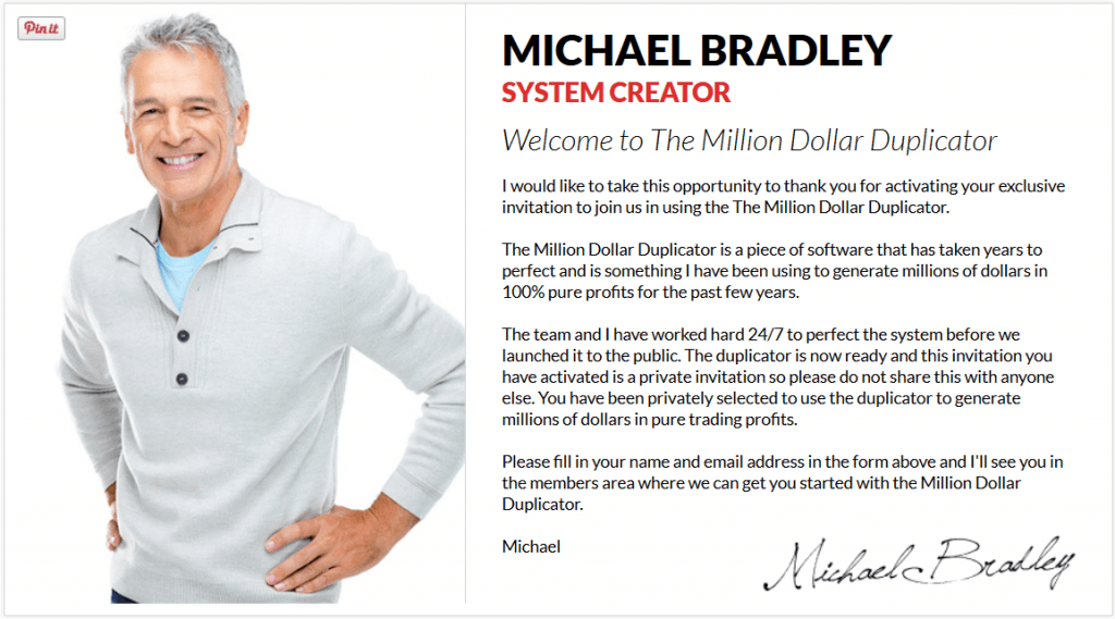 Million Dollar Duplicator owner michael bradley