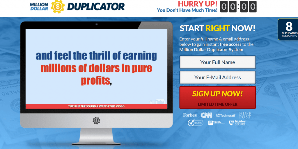 Million Dollar Duplicator is a scam