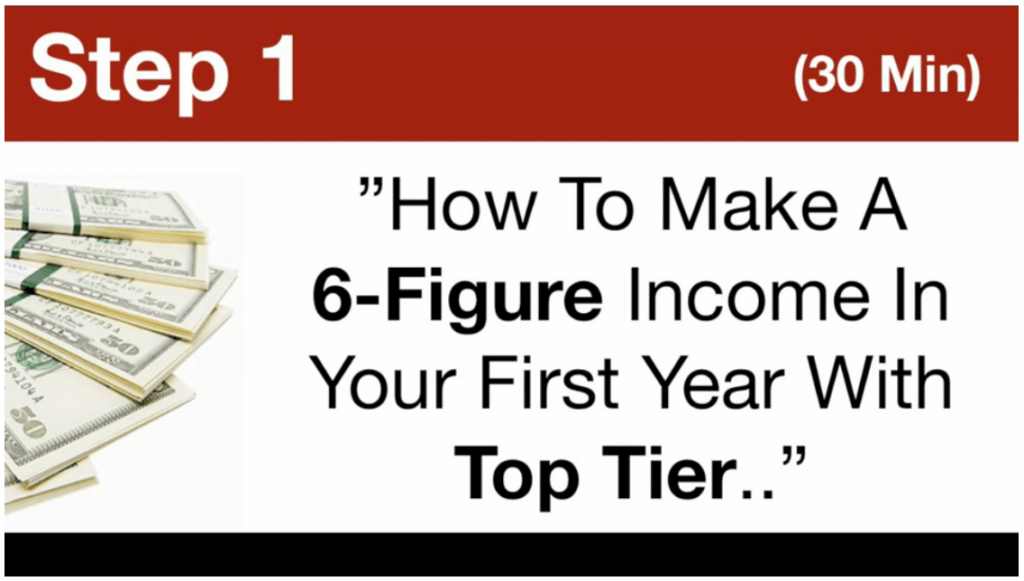 MTTB- How To Make 6 Figures In Your First Year With Top Tier