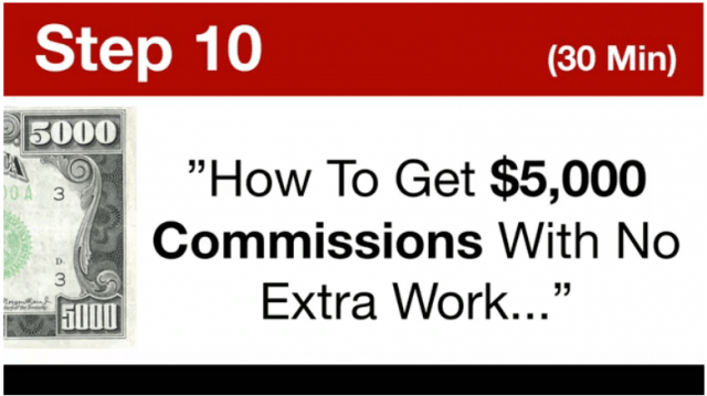 My online business education- How To Get $5,000 Commissions With No Extra Work