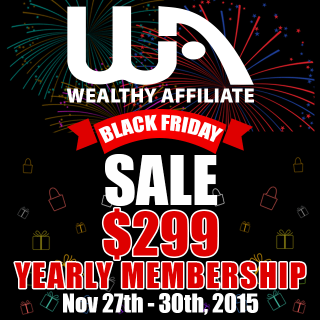 Wealthy Affiliate Discount-Black Friday