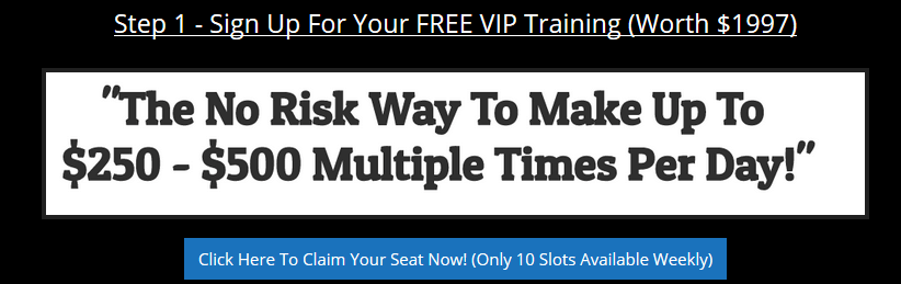 Step 1 training for BulletProof Profits